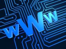 Ilustração do Internet Foto de Stock