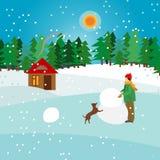 Ilustração do inverno do vetor Fotos de Stock Royalty Free