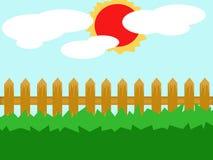 Ilustração do jardim ilustração do vetor