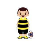 Ilustração do jogador do rugby dos desenhos animados Imagem de Stock Royalty Free