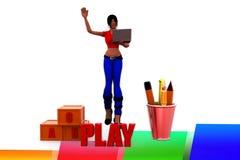 ilustração do jogo das mulheres 3d Foto de Stock Royalty Free
