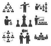 Ilustração do JPG + do vetor Reuniões de negócios ajustadas no fundo branco ilustração royalty free