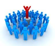 Ilustração do líder e da multidão 3d Imagem de Stock