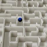 Ilustração do labirinto 3d Imagem de Stock