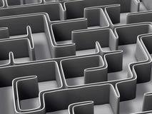 Ilustração do labirinto 3d Foto de Stock Royalty Free