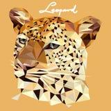 Ilustração do leopardo no estilo do mosaico ilustração stock