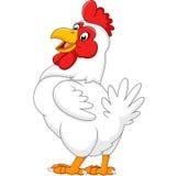 Ilustração do levantamento da galinha dos desenhos animados Imagens de Stock
