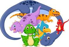 Ilustração do levantamento do dinossauro Fotografia de Stock Royalty Free