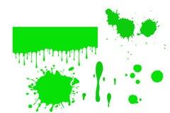 Ilustração do limo verde no fundo branco Beira para Dia das Bruxas ilustração do vetor