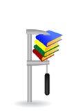 ilustração do livro apertado por um grampo Imagens de Stock