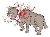 Ilustração do lobo do perigo da matança Imagem de Stock