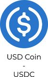 Ilustração do logotipo da moeda USDC de USD ilustração stock