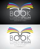 Ilustração do logotipo do livro do vetor Molde do ícone para a educação ou a empresa ilustração stock