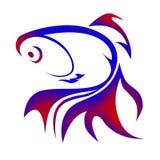 Ilustração do logotipo do peixe dourado Fotos de Stock