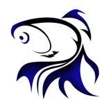 Ilustração do logotipo do peixe dourado Fotografia de Stock