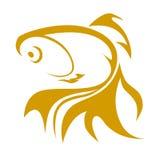 Ilustração do logotipo do peixe dourado Fotografia de Stock Royalty Free