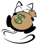 Ilustração do logotipo do gato no fundo branco Fotografia de Stock Royalty Free