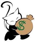 Ilustração do logotipo do gato no fundo branco Imagem de Stock Royalty Free