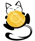 Ilustração do logotipo do gato no fundo branco Fotos de Stock Royalty Free