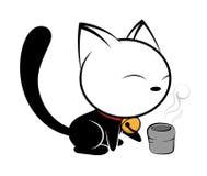 Ilustração do logotipo do gato no fundo branco Ilustração Royalty Free