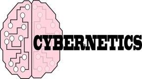 Ilustração do logotipo do texto da palavra da cibernética ilustração royalty free