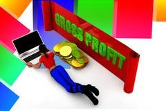 ilustração do lucro bruto das mulheres 3D Imagem de Stock