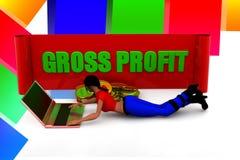 ilustração do lucro bruto das mulheres 3D Fotografia de Stock