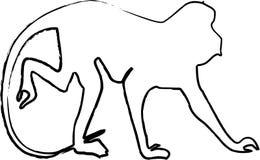 Ilustração do macaco Foto de Stock Royalty Free