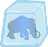 Ilustração do Mammoth fechada no gelo ilustração do vetor