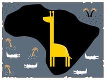 Ilustração do mapa criativo do preto do tesouro, projeto liso Fotos de Stock Royalty Free