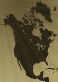 Ilustração do mapa de America do Norte Foto de Stock Royalty Free