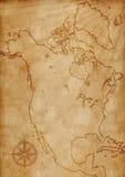 Ilustração do mapa de America do Norte Foto de Stock