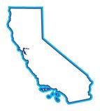 Ilustração do mapa de Califórnia Fotografia de Stock Royalty Free