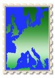 Ilustração do mapa de Europa no selo Imagem de Stock