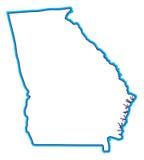 Ilustração do mapa de Geórgia Fotografia de Stock