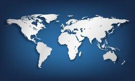 ilustração do mapa de mundo Foto de Stock