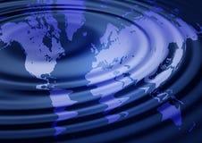 Ilustração do mapa de mundo Fotos de Stock