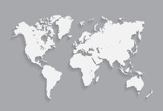 Ilustração do mapa do mundo Fotos de Stock