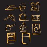 Ilustração do material da casa da silhueta Imagens de Stock