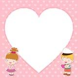 Ilustração do menino e da menina Imagem de Stock Royalty Free