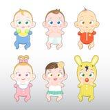 Ilustração do menino e da menina de bebês Fotografia de Stock
