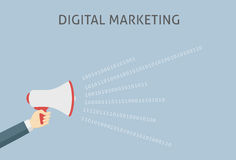 Ilustração do mercado de Digitas Imagem de Stock