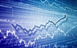 Ilustração do mercado de valores de acção Fotografia de Stock