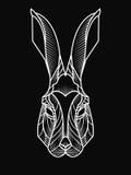 Ilustração do moderno da cabeça do coelho Imagem de Stock