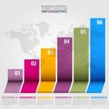 Ilustração do molde do projeto de Infographics do negócio ilustração stock