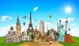 Ilustração do monumento famoso do mundo Imagens de Stock Royalty Free