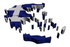 Ilustração do mosaico da bandeira do mapa de Greece ilustração royalty free