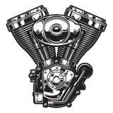 Ilustração do motor da motocicleta Fotografia de Stock Royalty Free