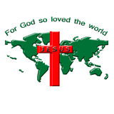 Ilustração do mundo e da cruz imagens de stock royalty free