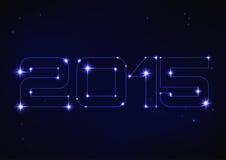 Ilustração do número azul 2015 no estilo da constelação Imagens de Stock Royalty Free